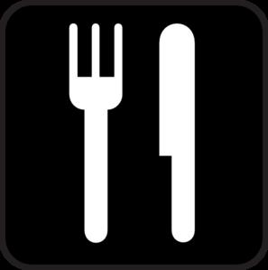 black food icon clip art at clker com vector clip art plate knife and fork clipart knife and fork clipart image
