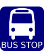 Bus Stop Sign Blue Clip Art