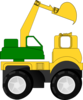 Cartoon Excavator Clip Art
