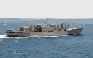 The Military Sealift Command Combat Stores Ship Usns Niagara Falls (t-afs 3) Is Currently Deployed To The Middle East Clip Art