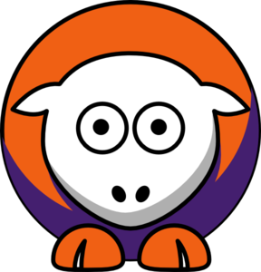 Sheep - Clemson Tigers - Team Colors - College Football Clip Art
