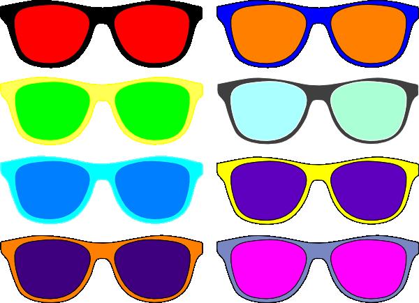 Colorful Sunglasses Clip Art At Clker Com Vector Clip