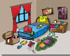 Making Bed Clipart Image
