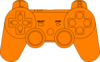 Ps3 Controller Orange  Clip Art
