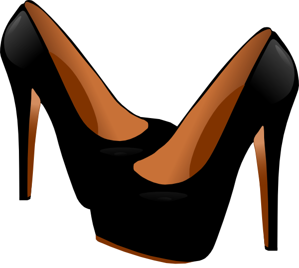 Black High Heels Clip Art At Clker Com Vector Clip Art