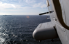 Rear View From An Sh-60 Showing Uss Harry S. Truman (cvn 75) On The Horizon Image
