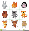 Baby Forest Animal Clipart Image