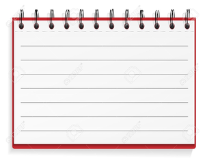 Spiral Notebook Paper Clipart Image