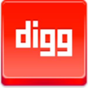 Free Red Button Icons Digg Image