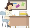 Grading Papers Clipart Image