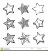 Black And White Stars Clipart Image