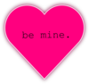 Be Mine Pink Heart Clip Art