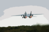 An F-14b  Tomcat  Assigned To The Fighter Squadron One Zero Three (vf-103)  Jolly Rogers  Takes Off From The Runway At The Croatian Air Force Base Near Pula, Croatia. Clip Art