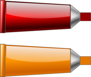 Color Tube Red Orange Clip Art