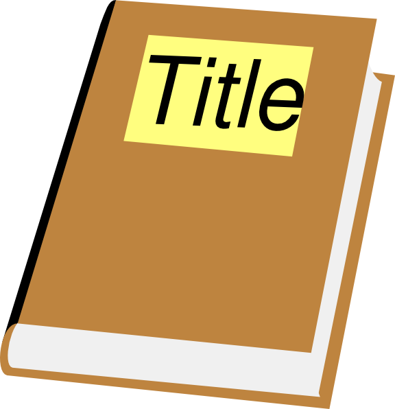 Book With Title Clip Art at Clker.com - vector clip art ...