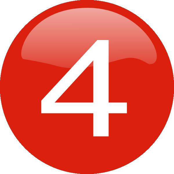 Number 4 Button Clip Art At Clker Com