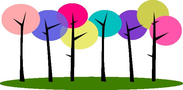 colorful trees clip art at vector clip art. Black Bedroom Furniture Sets. Home Design Ideas