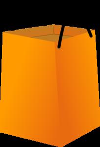 Shopping Bag With Black Handles Clip Art At Clker Com