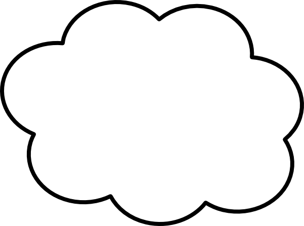 Drawing Lines Shapes Or Text On Bitmaps : Cloud thin border clip art at clker vector