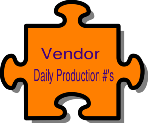 Vendor Daily Production Clip Art