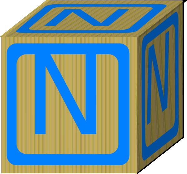 Letter Alphabet Block N Clip Art at Clker.com - vector ...