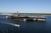 Uss John F. Kennedy (cv 67) Arrives At Naval Air Station Pensacola, Fla., For A Four-day Port Visit. Image