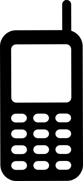 cell phone clipart black and white - photo #24