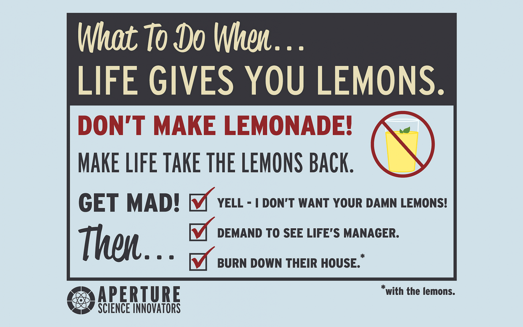 if life gives you lemons quote meaning