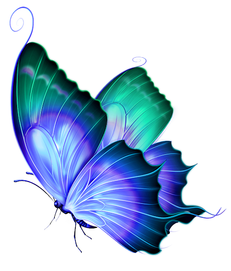 Vintage Butterfly Blue Green No Back | Free Images at ...