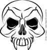 Vampires Skull With Fanged Teeth And Deep Eye Sockets Image