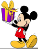 Disney Clipart Birthday Mickey Mouse Present Image