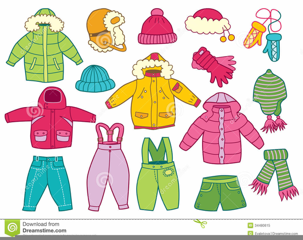 Children Winter Clothes Clipart | Free Images at Clker.com ...