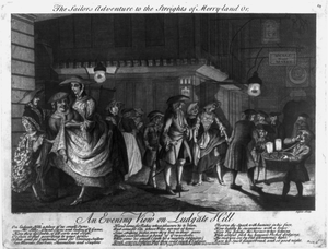 The Sailors Adventure To The Streights Of Merry-land Or, An Evening View On Ludgate Hill Image