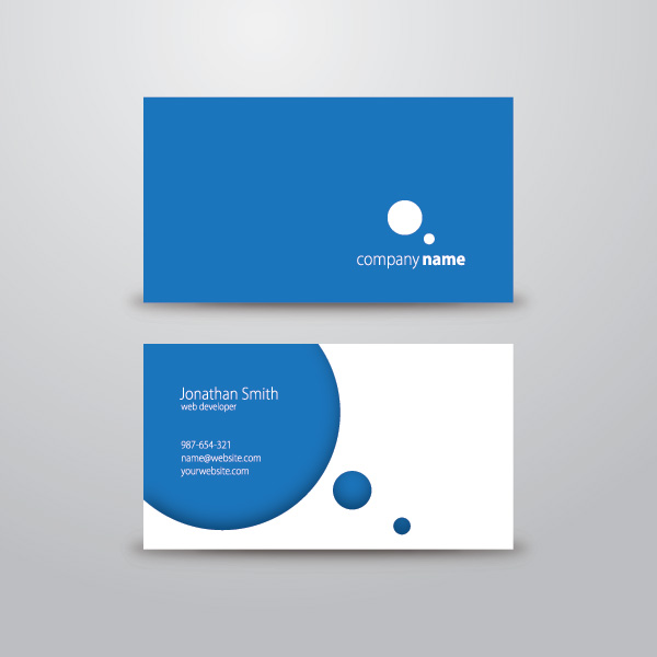 Circle business card 1 free images at clker vector clip art circle business card reheart Image collections