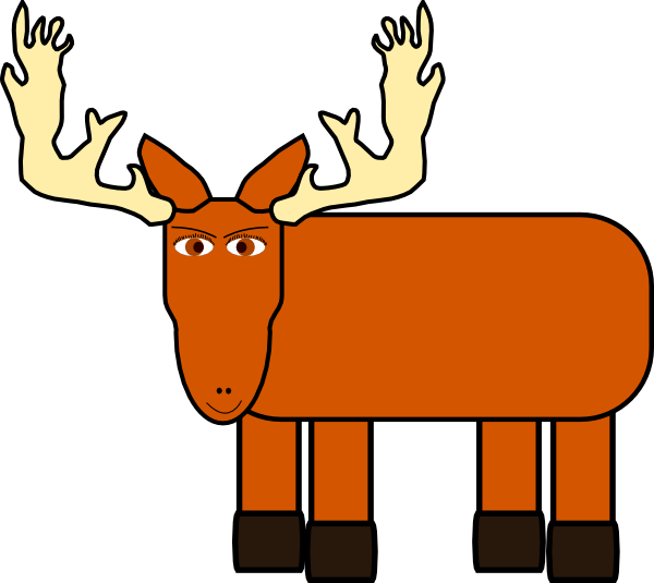 Moose face cartoon - photo#44
