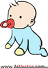 Animated Crawling Baby Clipart Image