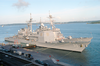 The U.s. Navy Guided Missile Cruiser Uss Leyte Gulf (cg 55), And Uss Bulkeley (ddg 84) Image