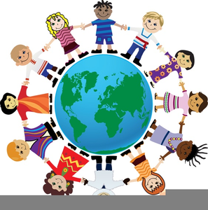 Flags Around World Clipart Image