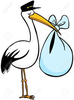 Baby Stork Clipart Free Image