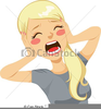 Screaming Woman Clipart Image