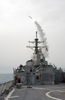 The Guided Missile Destroyer Uss Milius (ddg 69) Launches A Tomahawk Land Attack Missile (tlam) Toward Iraq. Image