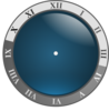 Blue Clock No Hands Clip Art