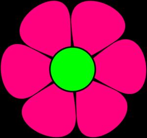 N Letter Love Pink Flower Clip Art a...