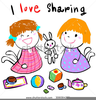 Shared Reading Clipart Image