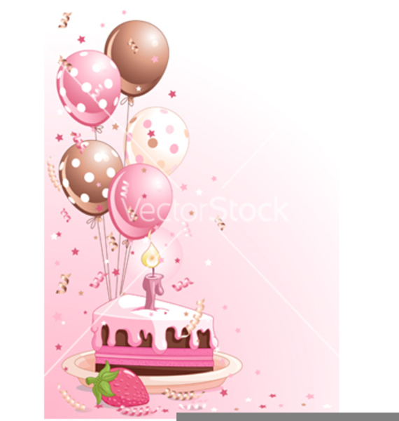 Free Clipart Birthday Cake Balloons Free Images At Clker