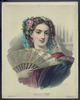 Lady Holding Fan Image