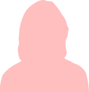 Pink Silhouette Woman Clip Art