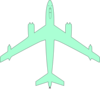 Sea Foam Green Airplane Clip Art
