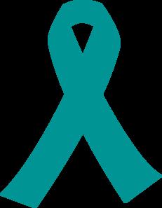 ribbon for cancer teal clip art at clker com vector clip Cervical Cancer Ribbon Tattoos Cervical Cancer Awareness