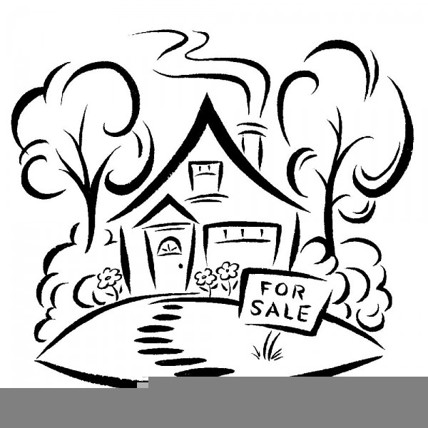 Clipart Houses Sale Free Images At Clker Com